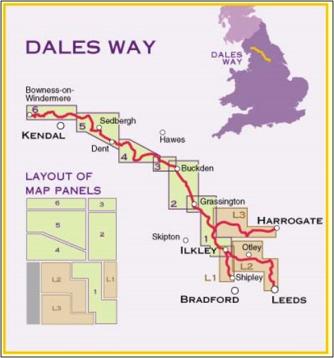 Dales Way Map